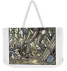 Weekender Tote Bag featuring the painting Vinegrower, 1568 by Granger