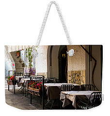 Weekender Tote Bag featuring the photograph Waiting For Company by Mike Ste Marie