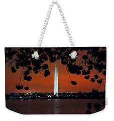 Weekender Tote Bag featuring the photograph Washington Monument by Suzanne Stout