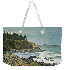 West Quoddy Head Lighthouse Weekender Tote Bag