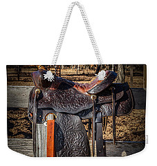 Western Saddle Weekender Tote Bag