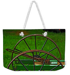 Weekender Tote Bag featuring the photograph Wheels Of Time by Rowana Ray