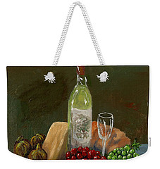 White Wine Weekender Tote Bag