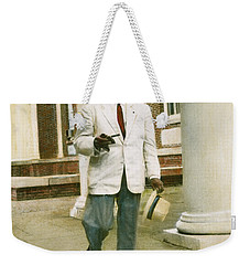 Weekender Tote Bag featuring the photograph William Faulkner (1897-1962) by Granger