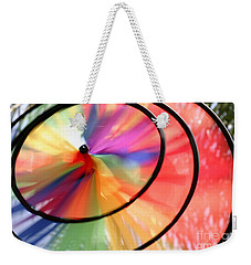 Weekender Tote Bag featuring the photograph Wind Wheel by Henrik Lehnerer