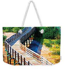 Winding Path In Blue Bloom Weekender Tote Bag