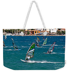 Windsurfing In Vasiliki Bay Weekender Tote Bag