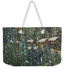 Winter Has Come To Door County. Weekender Tote Bag