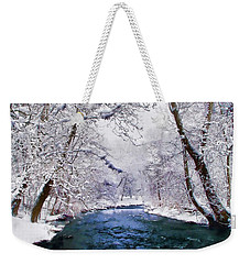 Winter White Weekender Tote Bag