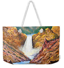 Yellowstone Falls Weekender Tote Bag by Lou Ann Bagnall