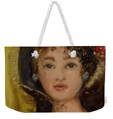 Weekender Tote Bag featuring the painting Yesterday by Laurie L
