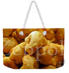 Weekender Tote Bag featuring the photograph Zeppoli by Lilliana Mendez