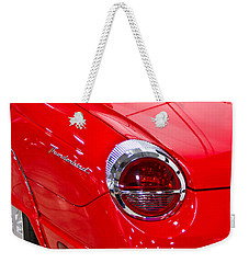 2002 Red Ford Thunderbird-rear Left Weekender Tote Bag by Eti Reid