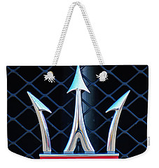 2005 Maserati Gt Coupe Corsa Emblem Weekender Tote Bag