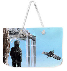 Weekender Tote Bag featuring the painting 2012-confronting Inevitability by Ryan Demaree
