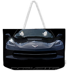 2014 Corvette With Emblem Weekender Tote Bag