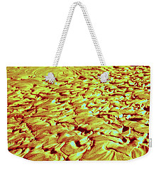 24 Kt Gold Ripples Weekender Tote Bag by Nick Kloepping
