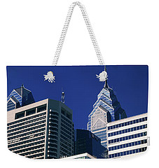 Low Angle View Of Skyscrapers Weekender Tote Bag