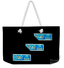 Weekender Tote Bag featuring the photograph 2nd Street Long Beach by Mariola Bitner