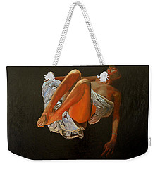 Weekender Tote Bag featuring the painting 3 30 Am by Thu Nguyen