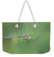Alligator Weekender Tote Bag by Peter Lakomy