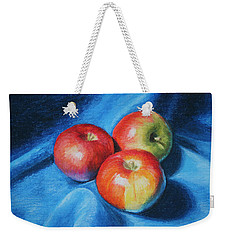 3 Apples Weekender Tote Bag by Marna Edwards Flavell