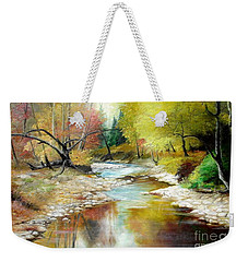 Autumn Weekender Tote Bag by Sorin Apostolescu