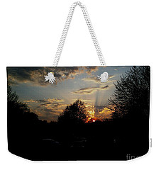 Weekender Tote Bag featuring the photograph Beauty In The Sky by Kelly Awad