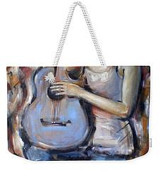 Blue Guitar 010709 Weekender Tote Bag by Selena Boron