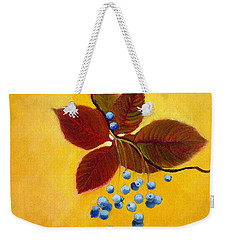 Blue On Yellow Weekender Tote Bag