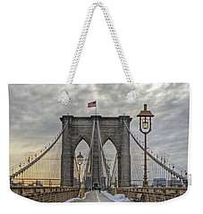 Weekender Tote Bag featuring the photograph Brooklyn Bridge by Jerry Gammon
