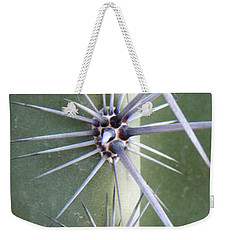 Weekender Tote Bag featuring the photograph Cactus Thorns by Deb Halloran