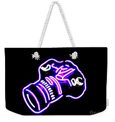 Weekender Tote Bag featuring the photograph Camera Edited by Kelly Awad