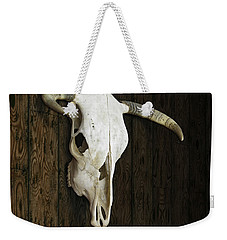 Cow Skull Weekender Tote Bag by James Larkin