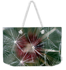 Weekender Tote Bag featuring the photograph Dandelion Seed Head by Henrik Lehnerer