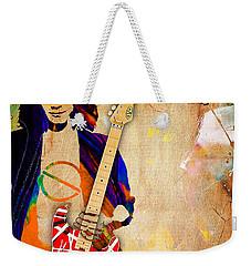 Eddie Van Halen Special Edition Weekender Tote Bag by Marvin Blaine
