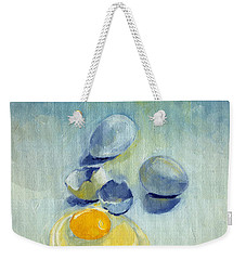 3 Eggs On Blue Weekender Tote Bag