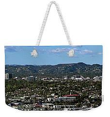 Elevated View Of Buildings In City Weekender Tote Bag