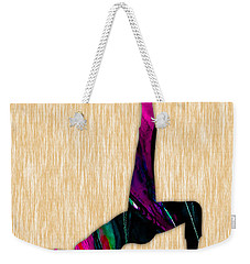Fitness Yoga Weekender Tote Bag by Marvin Blaine