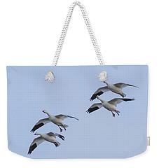 Flying Snow Geese Weekender Tote Bag
