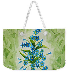 For-get-me-nots Weekender Tote Bag