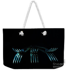 Weekender Tote Bag featuring the photograph 3 Forks by Randi Grace Nilsberg