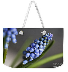Grape Hyacinth Weekender Tote Bag by Nailia Schwarz