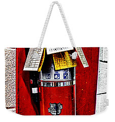 Grungy Fire Extinguisher Weekender Tote Bag