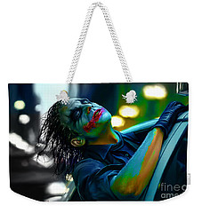Heath Ledger Weekender Tote Bag by Marvin Blaine
