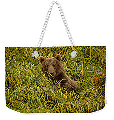 Weekender Tote Bag featuring the photograph Hi There by Steven Reed