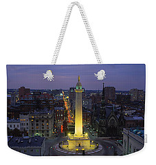 High Angle View Of A Monument Weekender Tote Bag