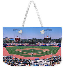 High Angle View Of Spectators Watching Weekender Tote Bag