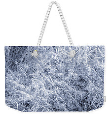 Weekender Tote Bag featuring the photograph Ice On Minnehaha Creek  by Jim Hughes