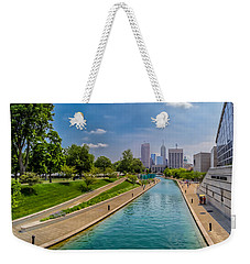 Indianapolis Skyline From The Canal Weekender Tote Bag